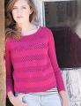Zara Eyelet Stripe Boatneck Pullover
