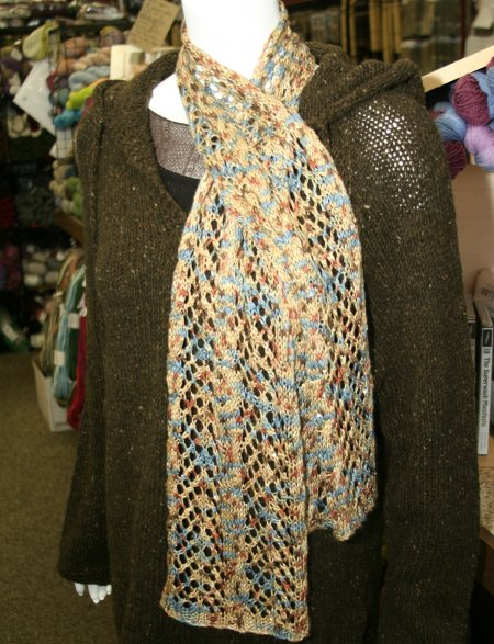 Jimmy Beans Wool Arrowhead Lace and Cable Scarf Knitting Pattern