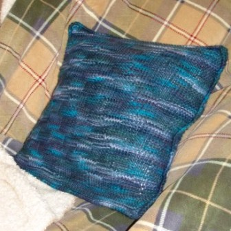 landscape collection free step pillow knitting pattern