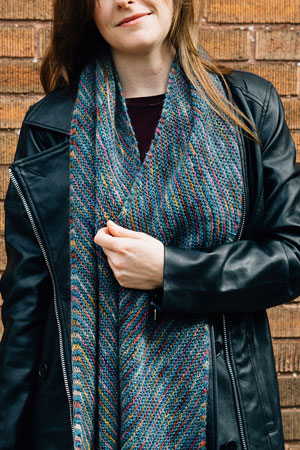The Sea in the Chasm Scarf Free Pattern