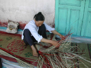 Making Rice Baskets