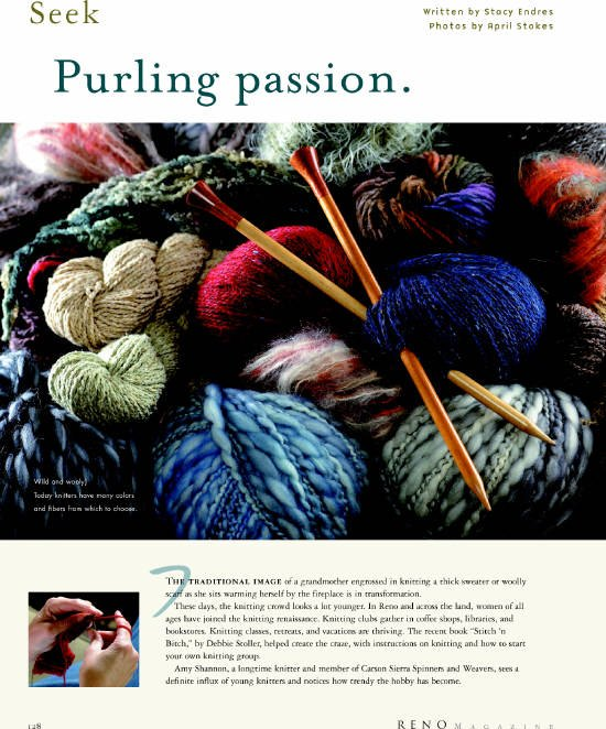 2005 Reno Magazine's Purling Passion Page 1
