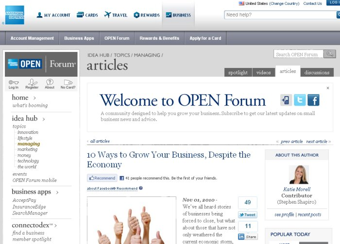 American Express - 10 Ways to Grow Your Business