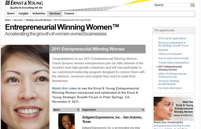 Ernst and Young Winning Women