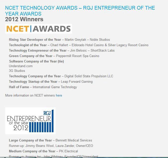 NCET Awards