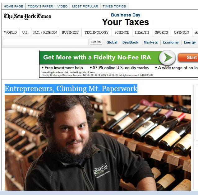 2012 New York Times Blog