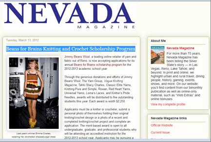 Nevada Magazine BFB Blog