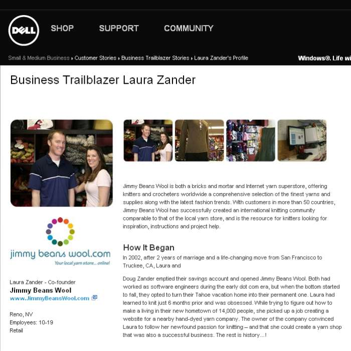 Dell Computer - Business Trailblazer Laura Zander - May, 2010 - Profiling JBW