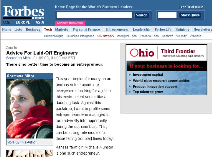 Forbes.com - Advice for Laid-Off Engineers - Profiling JBW