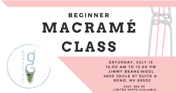 Jimmy Beans Wool hosting a Macrame Class