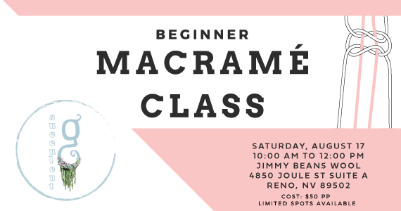 Macrame Class August 17th
