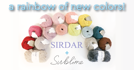 New Sirdar and Sublime Colors Header