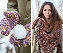 Aspen Mittens and Fir Shawl patterns