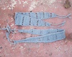 Knit and Crochet Headband pattern