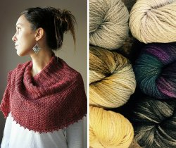 Autumn Blush shawl pattern
