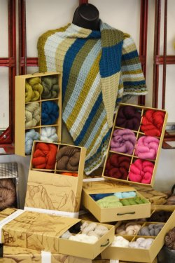 Blue Sky Gift Boxes - Asymmetrical Shawl