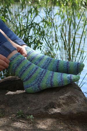 Basic Toe Up Sock Free Pattern