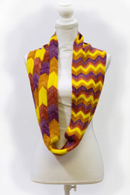Biscotte Yarns Bargello Infinity Scarf Kit