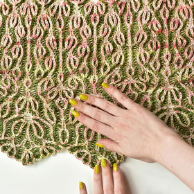 Freia Fine Handpaints Blooming Brioche Shawl Kit