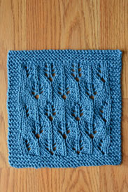 Universal Yarn Summer Leaves Cloths - Blue