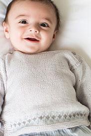 Rowan Baby Cashsoft Merino Unisex Boatneck Sweater Kit
