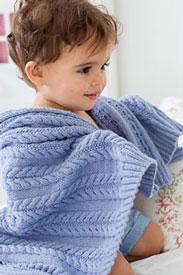 Rowan Baby Cashsoft Merino Cabled Blanket Kit
