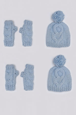 Cabled Mittens Free Pattern