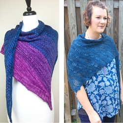 Cancer Shawlette and On the Cusp patterns