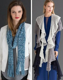Celia and Ariel Scarf patterns