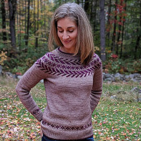 Malabrigo Rios Chevron Flight Sweater Kit - Women's Pullovers