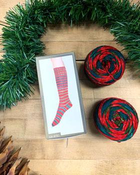 Urth Yarns Uneek Sock Kit yarn 25 (Holiday Stripe)