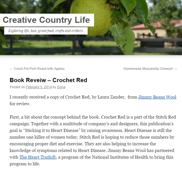 CreativeCountryLifeCrochetRed