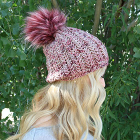 Jimmy Beans Wool Boobie Beanie Hat Kit kits Mindy's Mauve - Crochet