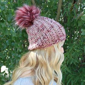 Jimmy Beans Wool Boobie Beanie Hat Kit kits Mindy's Mauve - Crochet