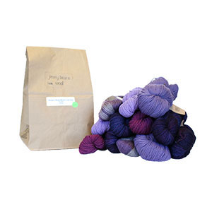 Jimmy Beans Wool DK/Sport Weight Mystery Grab Bags yarn purples