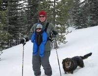 Doug and Huck Skiing
