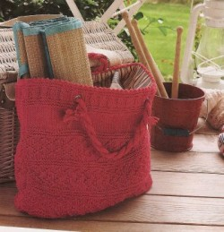 Debbie Bliss Eco Cotton Guernsey Style Bag