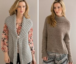Elegance Vest and Essence Pullover patterns