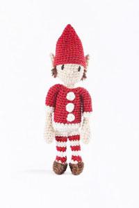 Toft Amigurumi Crochet Kit kits Mini Elf- Red