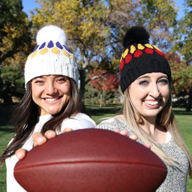 Jimmy Beans Wool Blitz Beanie Football Hat kits
