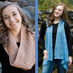 Cascade Forest Hills Vest and Cowl