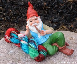 GnomeAcres Garden Gnome and Yarn