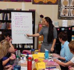 Grace teaching a class