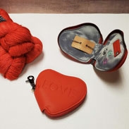 Maker's Heart Zip Mini Set - Coral Heart