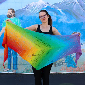 Jimmy Beans Wool Pride kits Love is Love Shawl (ships early June)