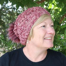 Jimmy Beans Wool Boobie Beanie Hat Kit kits Mindy's Mauve - Knit