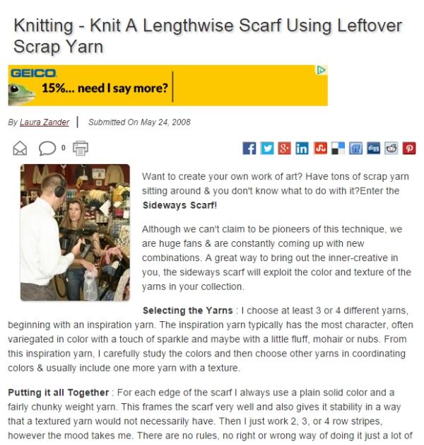 KnittingAScarf
