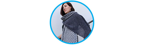 Laura's Striped Angular Shawl Project Log