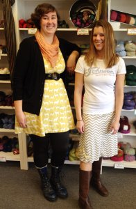 Laura and Skye with their newest sewn creations