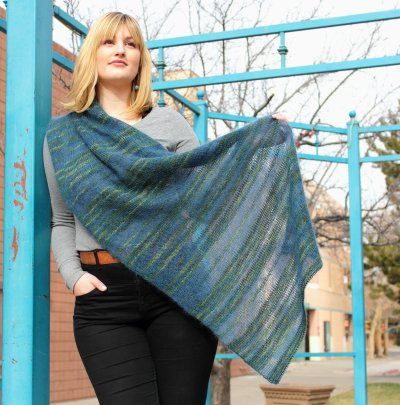 Lithosphere Shawl pattern - free with bouquet purchase